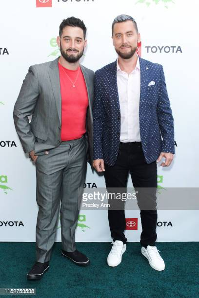Michael Turchin and Lance Bass attend 29th Annual Environmental Media Awards at The Montage Beverly Hills on May 30 2019 in Beverly Hills California