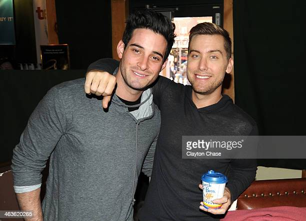 Michael Turchin and Lance Bass attend The 10th Anniversary LG Music Lodge At Sundance With Elio Motors And Tervis on January 18 2014 in Park City Utah