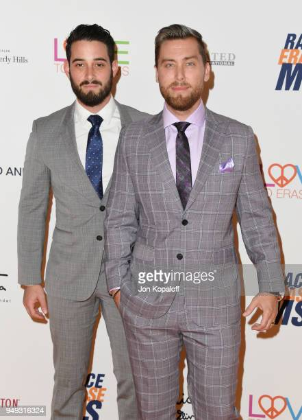 Michael Turchin and Lance Bass attend the 25th Annual Race To Erase MS Gala at The Beverly Hilton Hotel on April 20 2018 in Beverly Hills California