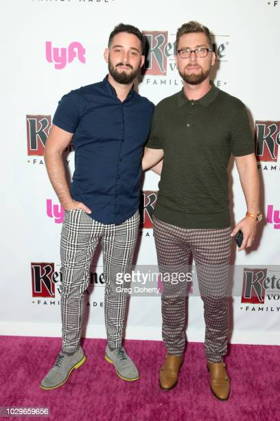 Michael Turchin and Lance Bass attend the Ketel One FamilyMade Vodka Celebrates Queer Eye Cast At PreEmmy Party at Kimpton La Peer Hotel on September...