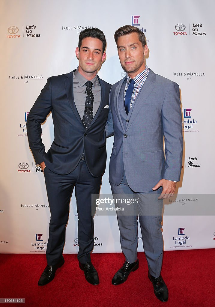 Michael Turchin (L) and Recording Artist Lance Bass attend the West Coast Liberty Awards celebrating Lambda Legal's 40th anniversary at The London Hotel on June 13, 2013 in West Hollywood, California.