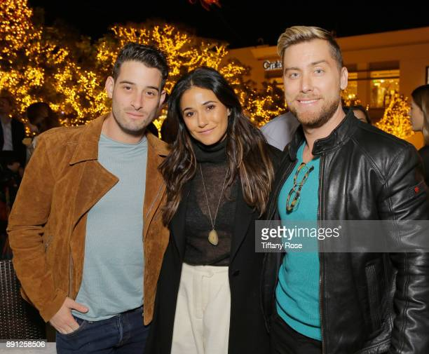 Michael Turchin Emmanuelle Chriqui and Lance Bass at the Village Synagogue and Emmanuelle Chriqui Host Menorah Lighting Ceremony at The Grove on...