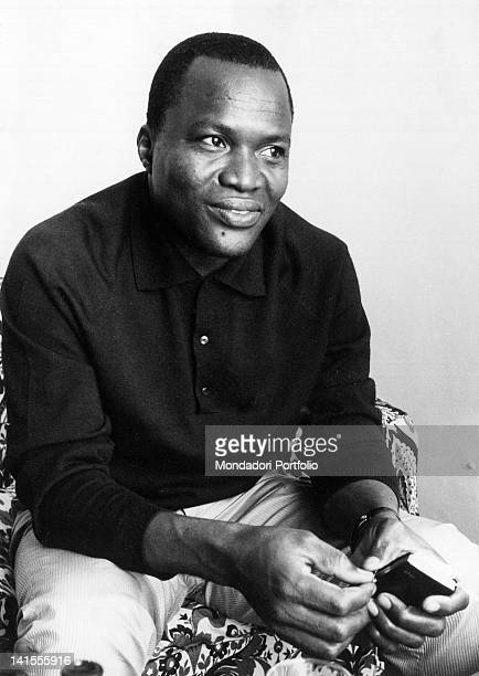 Michael Ugboma, representative of the secessionists of Biafra, region in the South-East of Nigeria. Rome, 1969