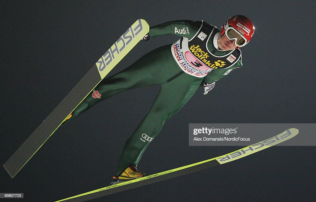 Michael Uhrmann of Germany competes during the FIS Ski Jumping World Cup event at the 58th Four Hills Ski Jumping Tournament on January 06, 2010 in Bischofshofen, Austria.