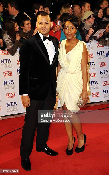 Michael Underwood and Angelica Bell arrive at The National Television Awards at O2 Arena on January 26, 2011 in London, England.