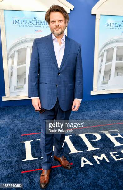 """Michael Uppendahl attends the premiere of FX's """"Impeachment: American Crime Story"""" at Pacific Design Center on September 01, 2021 in West Hollywood,..."""