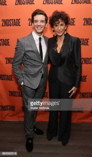 Michael Urie and Mercedes Ruehl attend the OffBroadway Opening Night After Party for the Second Stage Production on 'Torch Song' on October 19 2017...