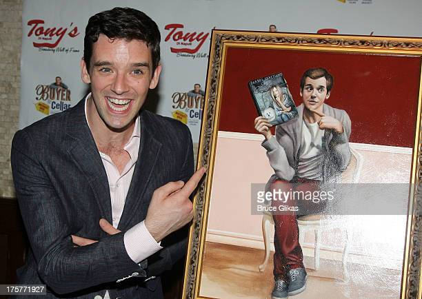 Michael Urie attends the 'Buyer and Cellar' Michael Urie portrait unveiling birthday party at Tony di Napoli on August 7 2013 in New York City
