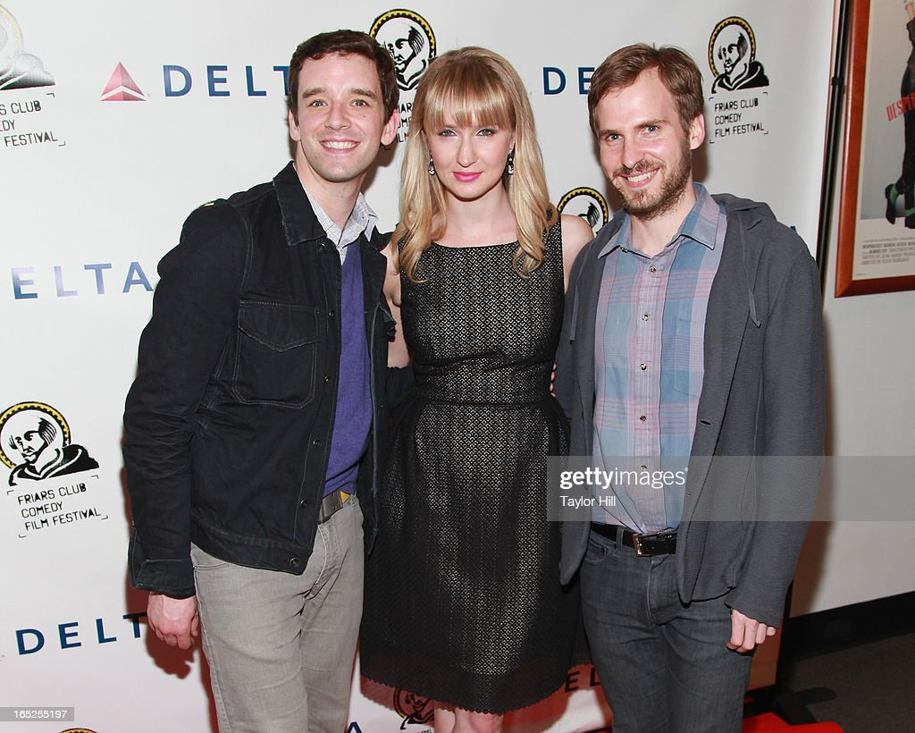 Michael Urie, Halley Feiffer, and Ryan Spahn attend the Friars Club Fifth Annual Comedy Film Festival Opening Night at NYU Cantor Film Center on April 1, 2013 in New York City.