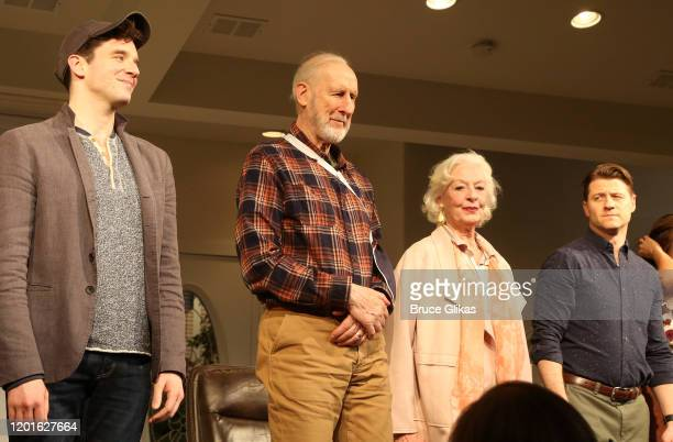 Michael Urie James Cromwell Jane Alexander and Ben McKenzie during the opening night curtain call for the new play Grand Horizons on Broadway at The...