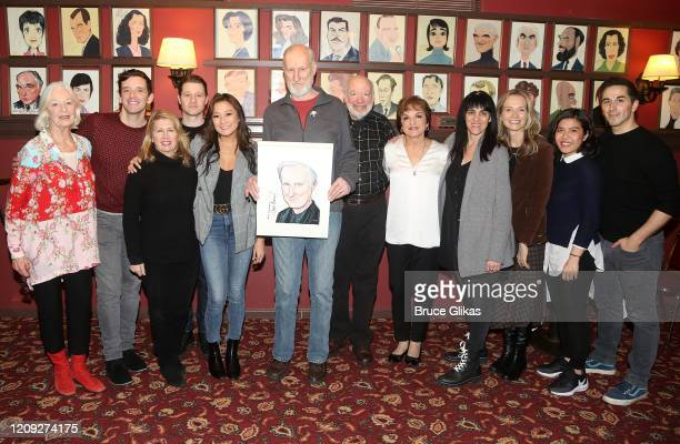Michael Urie Jane Alexander James Cromwell Ashley Park Ben McKenzie Priscilla Lopez with cast and crew pose as Sardis honors James Cromwell with his...