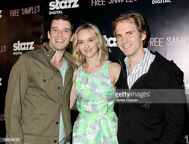 Michael Urie Jess Weixler and Ryan Spahn attends the 'Free Samples' Los Angeles premiere at Laemmle NoHo 7 on May 21 2013 in North Hollywood...