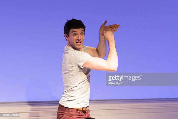 Michael Urie performs at 'Buyer And Cellar' Off Broadway Opening Night at Rattlestick Playwrights Theater on April 3 2013 in New York City