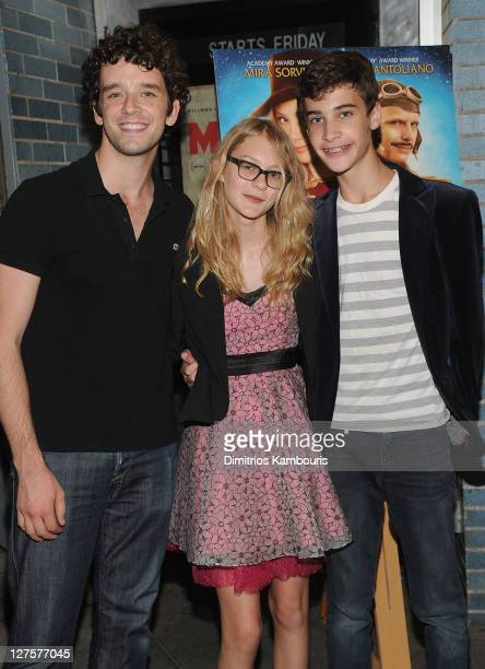 Michael Urie Ryan Simpkins and Maxwell Beer attend the 'Jeremy Fink and the Meaning of Life' premiere at Cinema Village on September 29 2011 in New...