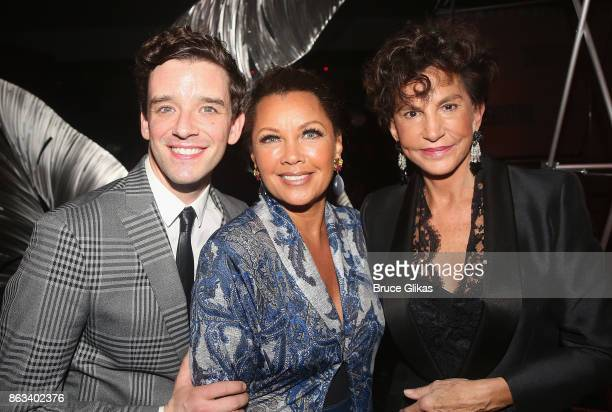 Michael Urie Vanessa Williams and Mercedes Ruehl pose at the after party for the Second Stage Theatre Company production of 'Torch Song' at The...
