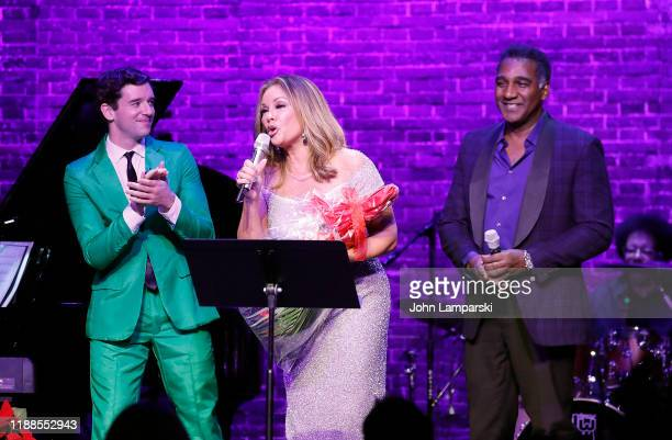 Michael Urie Vanessa Williams and Norm Lewis perform during Sheen Center presents Vanessa Williams Friends thankful for Christmas with guests Norm...