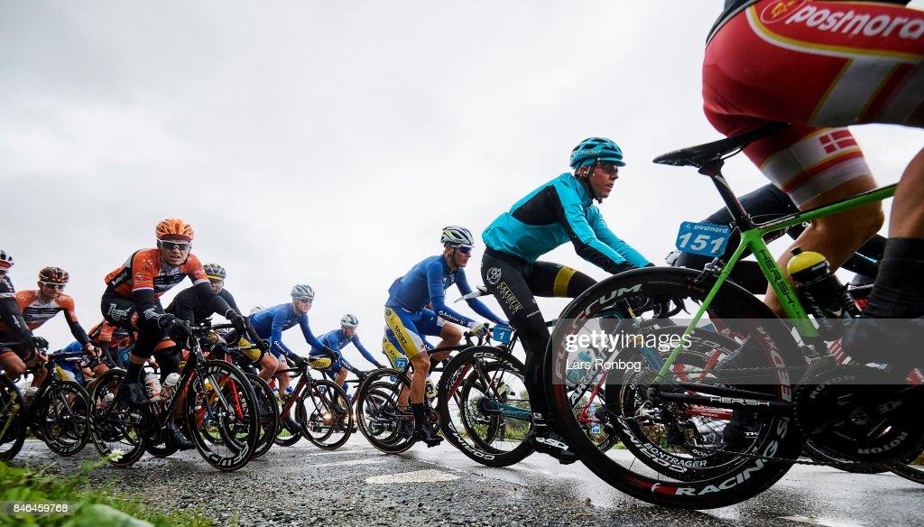 Michael Valgren Andersen Astana Pro Team in action during stage two of Tour of Denmark PostNord Danmark Rundt 2017 from Svendborg to Odense on September 13, 2017 in Svendborg, Denmark.