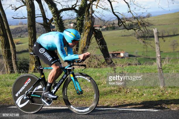 Michael Valgren Andersen of Astana Pro Team during the fourth stage of the 76th edition of ParisNice cycling race a 184 km individual time trial from...