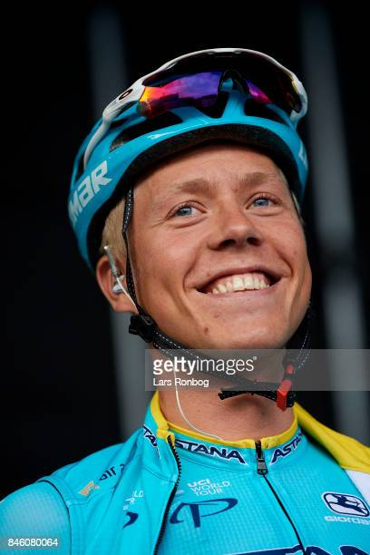Michael Valgren Andersen of Astana Pro Team on the podium prior to stage one of Tour of Denmark PostNord Danmark Rundt 2017 from Frederiksberg to...