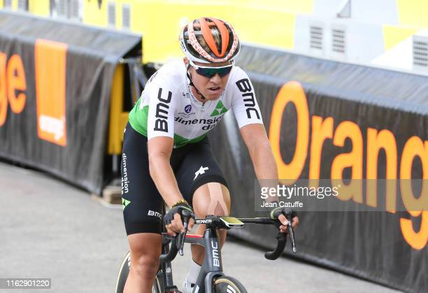 Michael Valgren Andersen of Denmark and Team Dimension Data crosses the finish line during stage 12 of the 106th Tour de France 2019, a stage between...