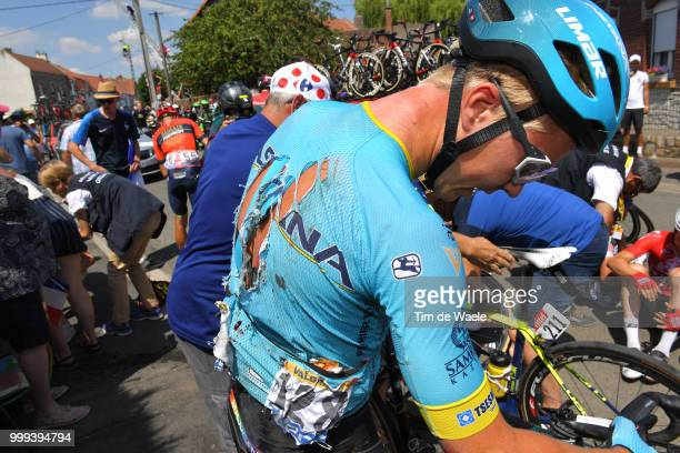 Michael Valgren of Denmark and Astana Pro Team / Crash / Injury / Medical / during the 105th Tour de France 2018, Stage 9 a 156,5 stage from Arras...