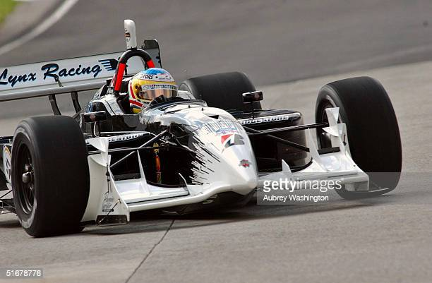 Michael Valiante of Canada drives during early morining practice of the CART Mexico City GP at the Autodromo Hermanos Rodriguez November 5 2004 in...