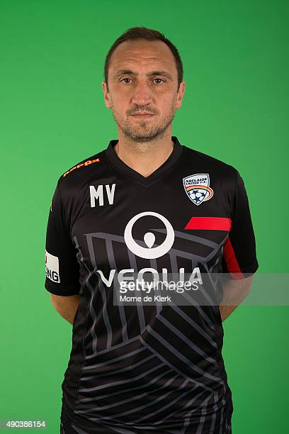 Michael Valkanis poses during the Adelaide United ALeague headshots session on September 28 2015 in Adelaide Australia