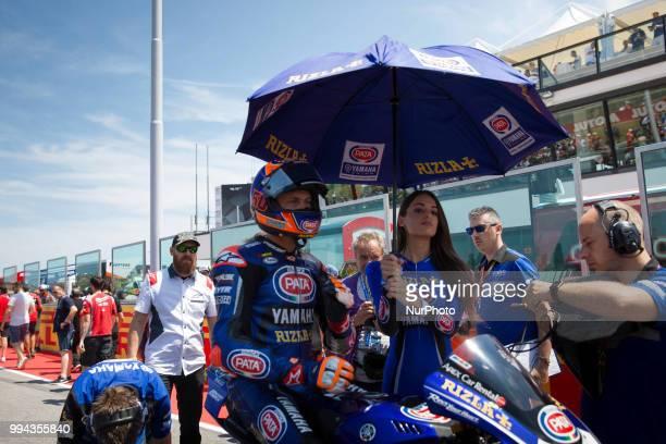 Michael Van Der Mark of Pata Yamaha Official WorldSBK Team before race 2 of the Motul FIM Superbike Championship Riviera di Rimini Round at Misano...