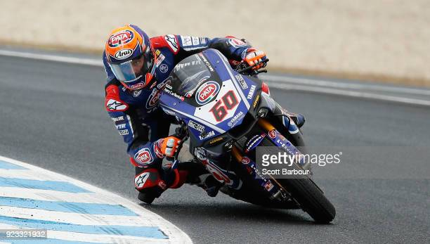 Michael van der Mark of the Netherlands and Pata Yamaha Official WorldSBK Team rides in the FIM Superbike World Championship Free Practice session...