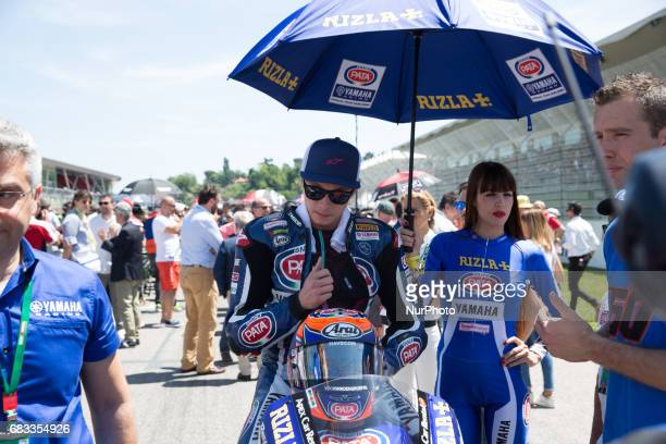 Michael van der Mark Yamaha YZF R1 Pata Yamaha Official WorldSBK Team Superbike Team during the Superbike race 2 during the World Superbikes Race at...