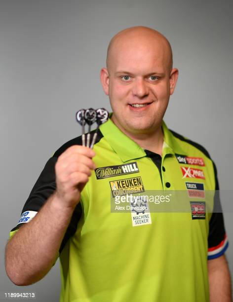 Michael van Gerwen poses for a photo during a Media Opportunity for the William Hill World Darts Championship on November 25 2019 in London England