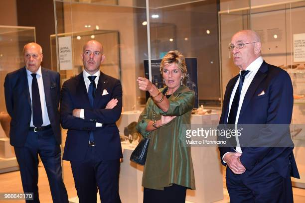 Michael Van Praag and Evelina Christillin attend during the Italy And Holland Delegations Dinner And Visit To Egyptian Museum on June 3 2018 in Turin...