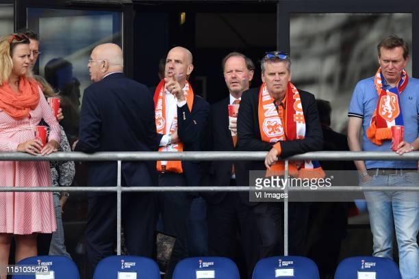 Michael van Praag, director Gijs de Jong of the KNVB, Bruno Bruins minister of sports during the FIFA Women's World Cup France 2019 group E match...
