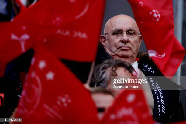 Michael van Praag of KNVB during the UEFA Champions League match between Ajax v Tottenham Hotspur at the Johan Cruijff Arena on May 8, 2019 in...
