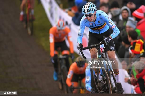 Michael Vanthourenhout of Belgium and Team Belgium / during the 70th Cyclo-cross World Championships Bogense 2019, Men Elite / Cross Denmark /...