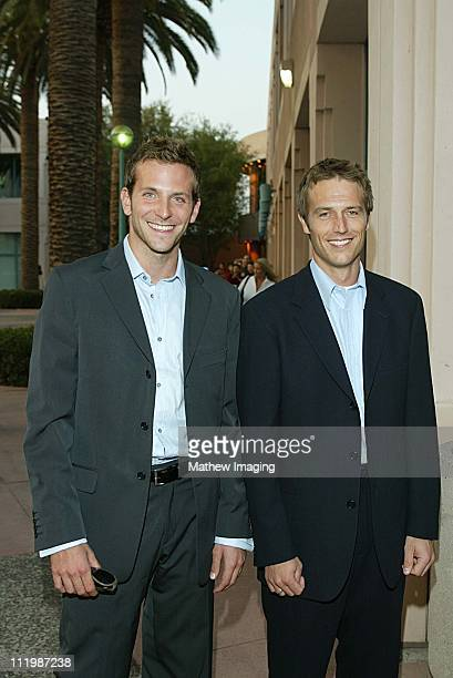 Michael Vartan and Bradley Cooper during Behind The Scenes Of 'Alias' at ATAS in North Hollywood CA United States