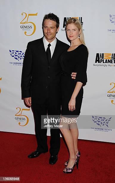 Michael Vartan and Lauren Skaar arrive at The 25th Anniversary Genesis Awards at the Hyatt Regency Century Plaza on March 19 2011 in Century City...