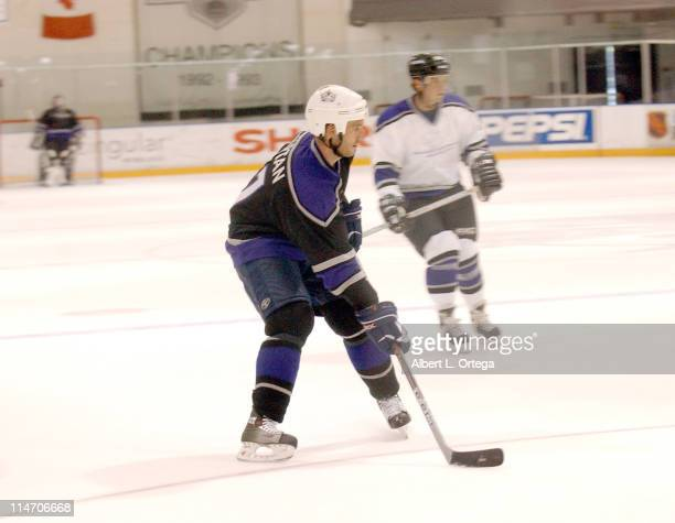 Michael Vartan and Scott Wolf during Starlight Starbright Children's Foundations 3rd Annual 'Stars with Sticks' Game at Toyota Sports Center in El...