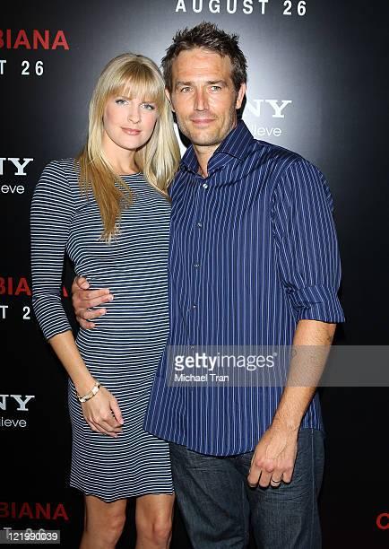 """Michael Vartan and wife, Lauren Skaar arrive at the """"Colombiana"""" Los Angeles screening held at Soho House on August 24, 2011 in Los Angeles,..."""