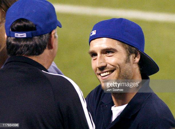 Michael Vartan during New York Mets vs Los Angeles Dodgers Celebrity Sightings June 7 2006 at Dodger Stadium in Los Angeles California United States