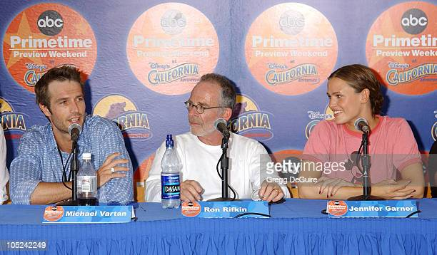 Michael Vartan, Ron Rifkin & Jennifer Garner during ABC Primetime Preview Weekend at Disney's California Adventure in Anaheim, California, United...