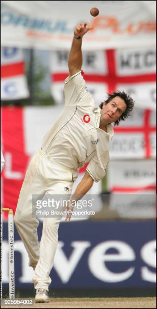 Michael Vaughan bowling for England during the 1st Test match between Sri Lanka and England at Asgiriya Stadium Kandy 4th December 2007 Sri Lanka won...