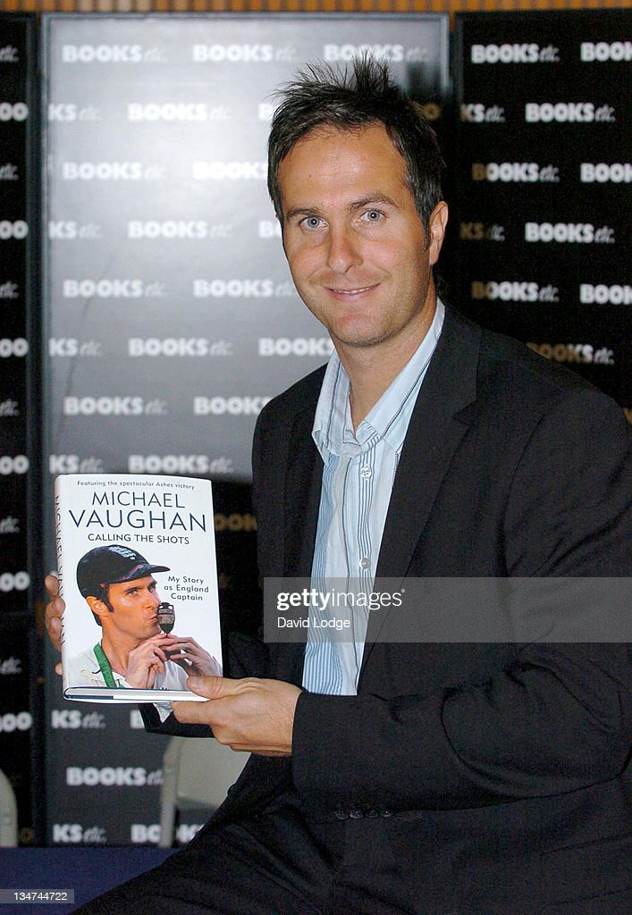 """Michael Vaughan Signs His Book """"Calling the Shots"""" at Books Etc. in London -"""