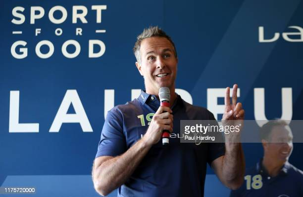 Michael Vaughan during the Laureus Super 8s at The Oval on September 19, 2019 in London, England.
