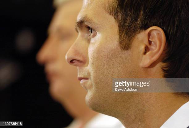 Michael Vaughan England Cricket captain and Duncan Fletcher team manager 24th October 2005.