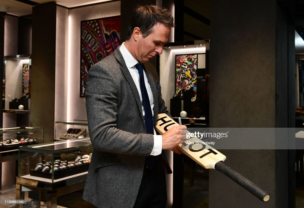 GBR: Official Timekeeper Hublot & Cricket Legend Michael Vaughan Celebrate The 100 Day Count Down