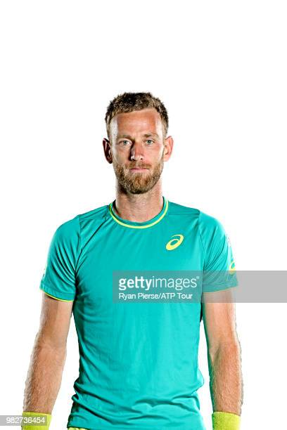 Michael Venus of New Zealand poses for portraits during the Australian Open at Melbourne Park on January 14 2018 in Melbourne Australia