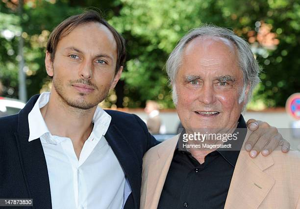 Michael Verhoeven and his son Luca Verhoeven attend the FFF Reception during the Munich Film Festival 2012 at the Praterinsel on July 5 2012 in...