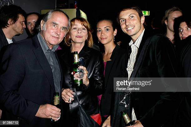 Michael Verhoeven and wife actress Senta Berger and son Luca and wife Stephanie Verhoeven attend the premiere of 'Maennerherzen' at CineMaxx at...