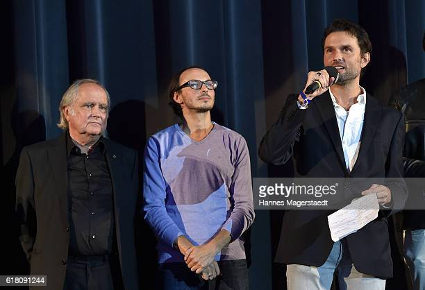 Michael Verhoeven Luca Verhoeven and Simon Verhoeven during the 'Willkommen bei den Hartmanns' premiere at Mathaeser Filmpalast on October 25 2016 in...